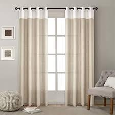 x labor voile vorhang leinen stoff gardinen mit ösen dekoschal für wohnzimmer schlafzimmer fenster 1er pack beige 132x225cm
