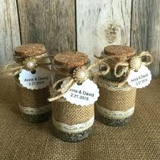 Rustic Wedding Favors Lavender Filled Burlap And Lace Glass Bottles Bridal Shower With