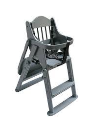 Safetots Folding Wooden Highchair Grey Wood
