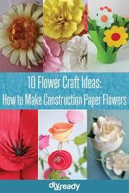10 Construction Paper Flowers
