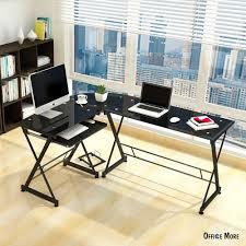 Black Glass Corner Computer Desk by Cheap Glass Corner Computer Desk Decorative Desk Decoration