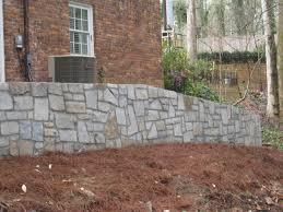 Dresser Trap Rock Boulders by Elberton Granite Rubble Retaining Wall My Garden U0026 Patio