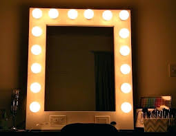 wall mirrors large wall mirror with light bulbs mounted makeup