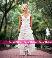 2016 Chic Rustic Full Lace Wedding Dresses Cheap V Neck Hollow Back Long Sweep Train Boho Garden Bridal Gown Custom Made Country Style New