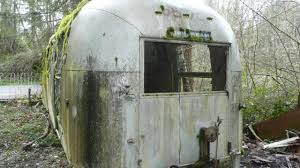 100 Antique Airstream Old Travel Trailer Abandoned In Forest YouTube