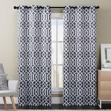 trellis grommet blackout curtain panel set of 2 blackout