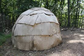100 Meadowcroft Outer View Of Wigwam At Rockshelter Stock Photo Picture
