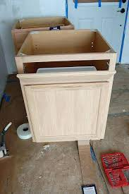 Unfinished Base Cabinets Home Depot by Kitchen Base Cabinets Unfinished Base Cabinet W Trash Can Pull Out