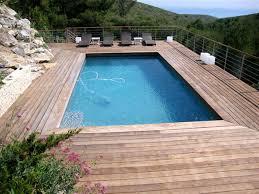 margelle piscine en bois piscines avec plages en bois bouc bel air 13100
