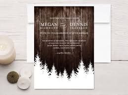 Winter Wedding Invitations Rustic Wood