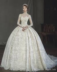 Vintage Victorian Gothic Ball Gown Wedding Dresses 2018 Amazing Lace