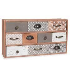 boite a tiroirs en bois boîte 10 tiroirs imitation bois à motifs sandrine home sweet