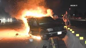 100 La Riots Truck Driver Photojournalist Saves Trapped In Burning Car On Highway In