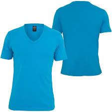 urban classics basic v neck tee men t shirt turquoise 68512 at