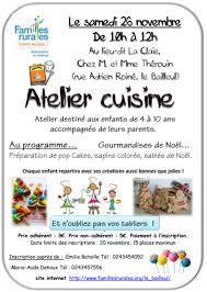 atelier de cuisine enfant familles rurales le bailleul atelier cuisine enfants