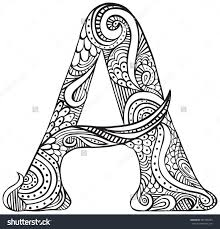 Adult Coloring Pages Letter A