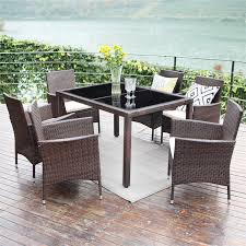 Amazon.com: Wisteria Lane 7 Piece Patio Wicker Dining Set, Outdoor ... Outdoor Wicker Ding Set Cape Cod Leste 5piece Tuck In Boulevard Ipirations Artiss 2x Rattan Chairs Fniture Garden Patio Louis French Antique White Back Chair Naturally Cane And Plantation Full Round Bay Gallery Store Shop Safavieh Woven Beacon Unfinished Natural Of 2 Pe Bah3927ntx2 Biscayne 7 Pc Alinum Resin Fortunoff Kubu Grey Dark Casa Bella Uk Target Australia Sebesi 2fox1600aset2