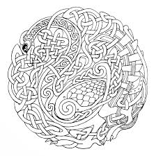 Printable Celtic Mandala Coloring Pages