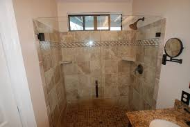custom mosaic border row frameless shower doors in laguna niguel