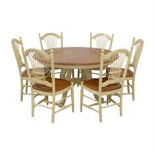 75% OFF - Ethan Allen Ethan Allen Country French Dining Set / Tables Chair Ethan Allen Style Fniture Maple Desk Ding Chairs Country French French Country Olivia Ding Dine In Rooms Allen Pedestal Table Bar Height Tables And Moventuresco Table Cajregistdorasco Legacy Farmhouse 4 Wheat Back Chairs 75 Off Set Tables Room Thetastingronyccom Used Ethan Fniture For Sale Technogatinfo Product Vintage Discontinued