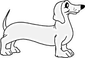 Dachshund Dog Coloring Simple Pages