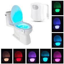 großhandel neue toilette nachtlicht led sensor bewegung aktiviert toilette badezimmer waschraum nachtle toilettenschüssel lichtsensor sitz