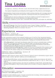 Clerical Resume Template Administrative Assistant Samples Format Cv