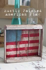 Rustic Painted American Flag I Used This Old Reclaimed Wood Box Got At A Thrift Store Every Time Go To The Keep My Eye Out For