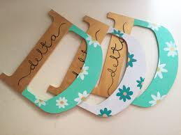 Tri delta painted wooden letters big little spoils week