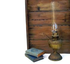 Rayo Oil Lamp Shades by Antique Oil Lamp Brass Hurricane Lamps Glass Globe B U0026 H Rayo