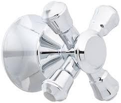 Delta Floor Mount Tub Filler T4797 by Delta Faucet H795 Cassidy Single Cross Bath Handle Kit Chrome