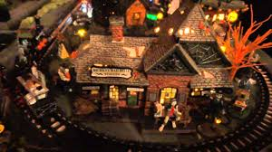 Dept 56 Halloween Village Retired by Dept 56 And Lemax Spookytown 2014 Halloween Village Youtube