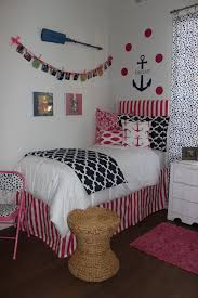 Nautical Navy And Preppy Pink Dorm Room