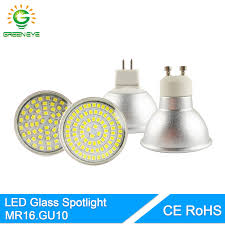 greeneye high bright glass aluminum mr16 gu10 led spot l light