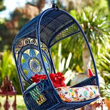 Pier One Papasan Chair Weight Limit by Swingasan Blue Medallion Hanging Chair Pier 1 Imports