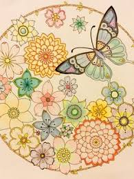 From Johanna Basfords Magical Jungle Flowers And Butterfly Mandala Finished