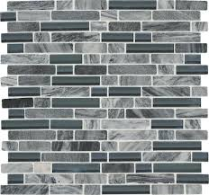 Menards Glass Subway Tile by Mohawk Phase Platinum Mosaic Stone And Glass Wall Tile 5 8