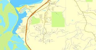 Humboldt Eureca Printable Map California US Vector Street City Plan Full Editable Adobe Illustrator V310 Scalable
