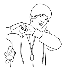 Justin Bieber Coloring Pages To Print For Free 300x300