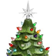 Pre Lighted Christmas Trees by Pre Lit Ceramic Tabletop Christmas Tree U2013 Best Choice Products