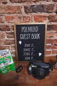 Polaroid Guest Book Photos Instax Indie Rustic DIY Fun Wedding Party