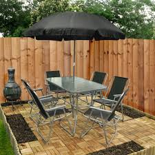 Garden Table, Chair & Umbrella Set – Eight Piece Brompton Metal Garden Rectangular Set Fniture Compare 56 Bistro Black Wrought Iron Cafe Table And Chairs Pana Outdoors With 2 Pcs Cast Alinium Tulip White Vintage Patio Ding Buy Tables Chairsmetal Gardenfniture Italian Terrace Fniture Archives John Lewis Partners Ala Mesh 6seater And Bronze Home Hartman Outdoor Products Uk Our Pick Of The Best Ideal Royal River Oak 7piece Padded Sling Darwin Metal 6 Seat Garden Ding Set