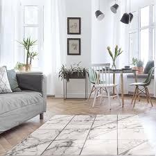 teppich wohnzimmer beige grau kurzflor fliesenoptik größe 120 x 170 cm