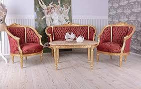 barock sofa sitzgarnitur 2 1 1 couchtisch salon sitzgruppe