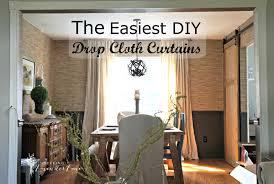 Fabric For Curtains Diy by Cheap Home Decor Easiest Diy Drop Cloth Window Treatments