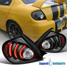 2003 2005 dodge neon srt4 r t led tail lights depo black ebay