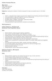 Sample Kitchen Helper Resume Job Description Samples Server Kitc