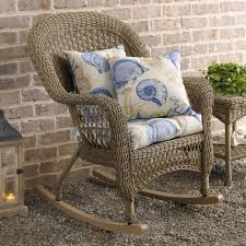 Braxton Culler Furniture Replacement Cushions by Savannah Driftwood Wicker Rocker Rocking Chairs Driftwood And