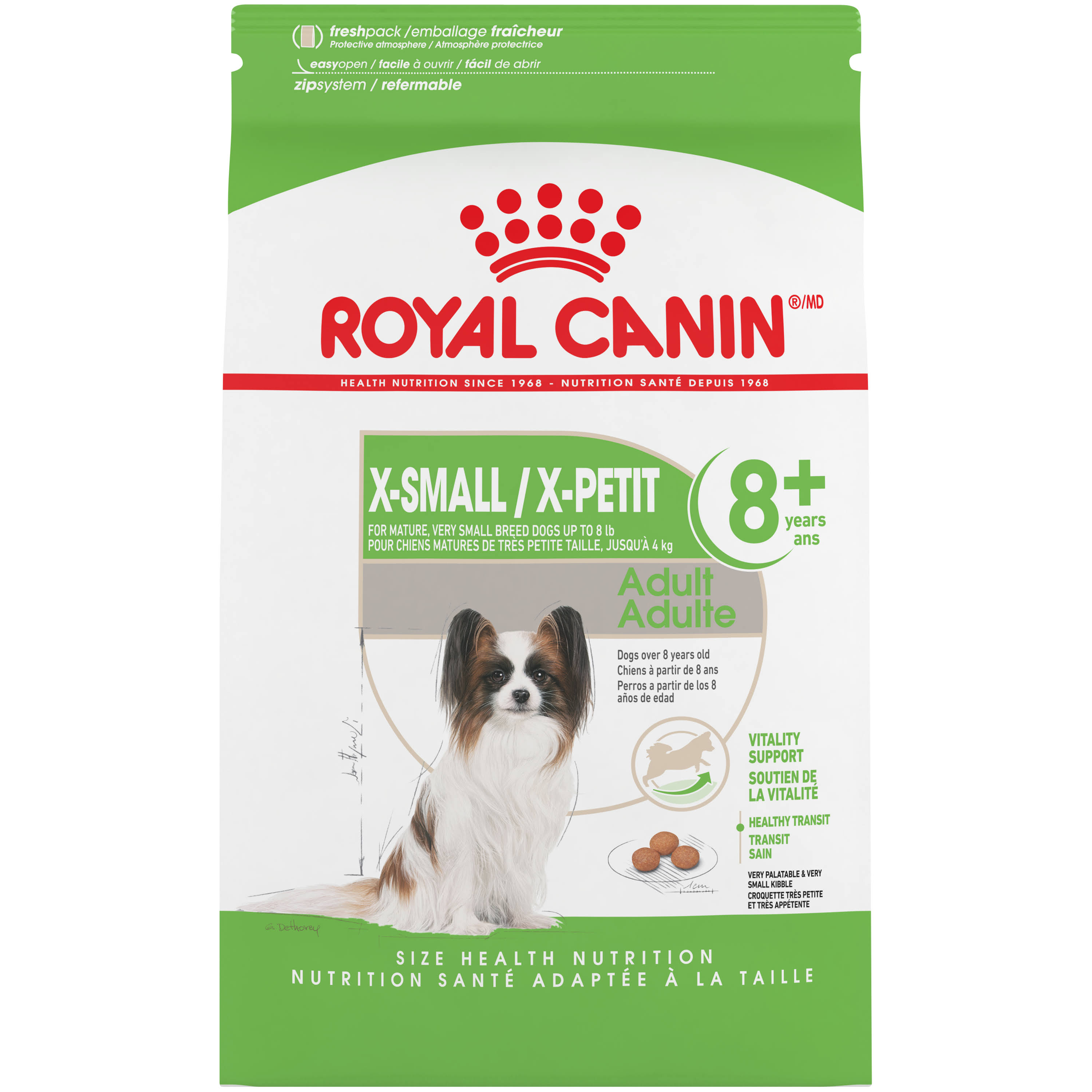 Royal Canin Health Nutrition X Small Mature 8 Plus Dry Dog Food - 2.5lbs