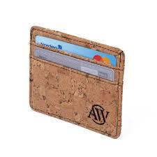 cork card holder aarni wallet made of natural cork